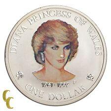 1997 Diana Princess of Wales 1 oz Cook Islands Silver Dollar $1 Custom Painted