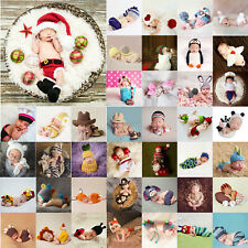 Newborn Baby Girl Boy Crochet Knit Costume Photo Photography Prop Hat Outfit LOT