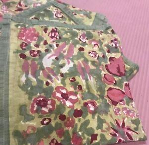"""Couleur Nature Mas d'Ouvan Set of 6 Cotton Napkins 17"""" X 19"""" Multicolor Flowers"""