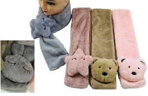 Kids Toddler Baby Boys Girls Super Soft Scarf In Star Bear Rabbit Print NEW