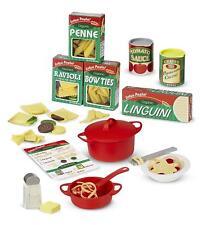 Kids Food Play Set Pasta Pretend Cook Kitchen Dinner 50+ Piece Gift Toddler NEW