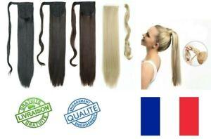 Rajout Queue de Cheval Postiche Extension de Cheveux Lisse  clip résistant
