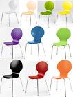 Stackable Dining / Office Chairs - Many Colours Chrome Legs Marcus Wood NEW