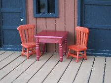 Rickety Table w 2 Chairs 1/24 Scale G Scale Diorama Accessory Items