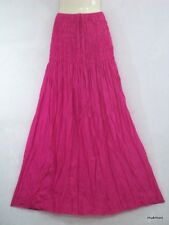 New Plain Casual Cocktail Evening Long Maxi Skirt & Dress Pink,Free Sz.XS-L