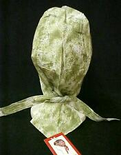 Chemo Head Cover Hat Olive Green Sponge Print Durag Cap 100% Cotton One Size New