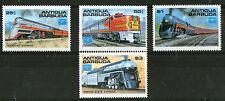 1991 ANTIGUA RAILWAY LOCOMOTIVES SET OF ALL 8 COMMEMORATIVE STAMPS MNH