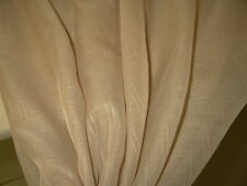 "Drapery fabric sheer beige square pattern imported French Tergal 118"" wide 5 yds"