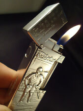 Dunhill Rollagas Lighter - Great Golf Courses of the World - Solid .925 Silver