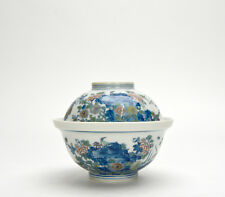 Superb Set of Chinese Qing Style Doucai Floral Porcelain Bowl with Lid Cover
