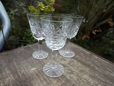 Waterford Crystal Three small stemmed sherry /liqueur glasses