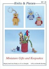 NOVELTY KNITTING PATTERN Miniature Gifts & Keepsakes BY SANDRA POLLEY