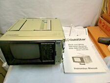 "Goldstar 5"" Model KMA 0506 B&W TV, AM/FM Radio with Manual & Papers used"