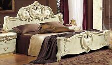 Luxus Barock Ehe Doppelbett aus Italien Hochglanz Polsterbett 180x200 Vintage