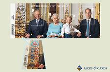 2016 il Queen's 90th BIRTHDAY timbro in miniatura foglio con stampex sovrastampa