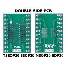 PCB TSSOP20 SSOP20 MSOP20 SOP20 to DIL ADAPTER