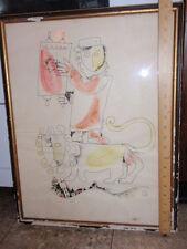 VINTAGE JUDAICA ART WORK  RABBI TORAH   A/P  ARTIST'S PRINT  SIGNED  SID ROTH