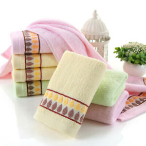 Fashion Cotton Soft Face Washer Towel Bathroom Raindrop Pattern Washcloth Unisex