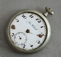 LIS Watch pocket watch Ancre Perfectionne 10 Rubis 48mm PARTS / SPARES