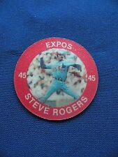 1984 Slurpee Steve Rogers Expos #XX superstar coins baseball MLB $1 S&H