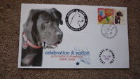 2003 GREAT DANE DOG LETS PARTY P STAMP SOUVENIR FDC 3