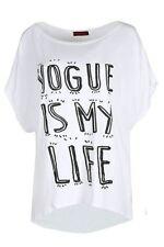T-shirt, maglie e camicie da donna bianchi viscosi taglia M