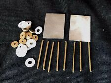 Razor Restoration Hardware Set 2 Steel Wedges 12 Brass Collars 8 Pins 12 Washers