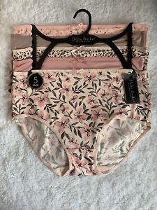NWT DELTA BURKE Intimates 5-Pack Briefs Panties Underwear ~ Size 7/L