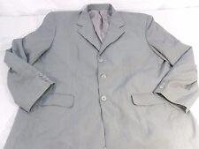 Dark greenish-Gray Gray silk-lined Men's  three button Dress Jacket 100188