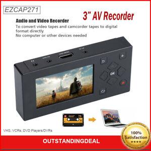 VHS Camcorder Hi8 Tape Converter Audio Video Capture 8G MP3 Player AV Recorder