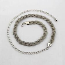 Silver Plaited Ladies Waist Chain Charm Fashion Belt