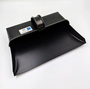 Heavy Duty Metal Dust Pan Quality Hooded Dustpan Fixed Handle Garden Tool 32 cm