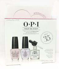 OPI TREAT ME RIGHT Trio Kit - Natural Nail Base + Top + DripDry 0.3oz