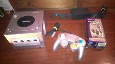 Nintendo Gamecube de plata y 4 Juegos Crazy Taxi #S108B63