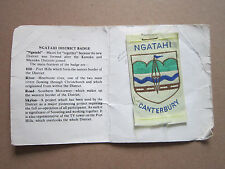 Ngatahi Canterbury New Zealand Woven Cloth Patch Badge Boy Scouts Scouting