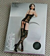 ODDS - Black lacebody-stocking, BN, packaged
