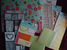 2-HUGE Lot Colored Album Flowers Assorted Paper Stickers Letters Embellishments