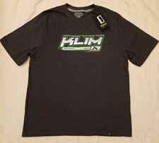 KLIM Technical Riding Gear Gray Green Short Sleeve Graphic T-Shirt Mens L