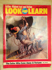 LOOK AND LEARN MAGAZINE No.625, Jan 1974 -THE SAILOR WHO GAVE  AWAY A FORTUNE