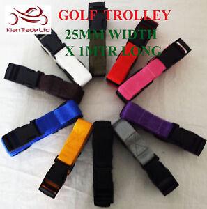 Golf Trolley Webbing Cart Luggage Tie Down fastening Straps 25mm x 1mtr x Pair