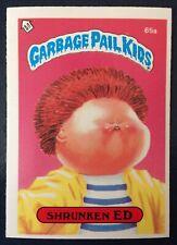 Shrunken Ed 65a UK Garbage Pail Kids Series 2(1986) Short Memory Award~NMT/MINT