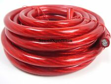 AUDIOTEK 17 FT feet 4 GAUGE RED POWER WIRE CABLE 4AWG CAR AUDIO BOAT TRUCK