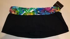 La Blanca Size 16 C30934B1 Black New Womens Bikini Bottom Swim Skirt Swimwear