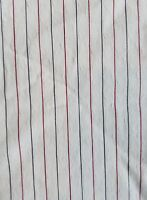 Vintage Fabric Red White Blue Striped Salvage Cutter Remnant Sewing Quilt A23