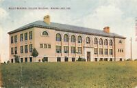 Postcard Mount Memorial College Building Winona Lake Indiana
