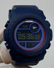 Nixon Super Unit Primitive 50mm Blue Silicone Men's Watch A921-2429 A9212429 SD9