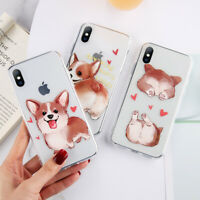 For iPhone XS Max XR X 8 7 6 6s Plus Cute Dog Pattern Case Ultra Thin Cover