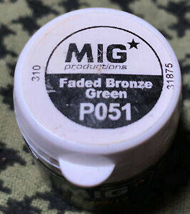 FADED BRONZE GREEN  P051 Mig Pigments -SEALED FREE USA SHIPPING