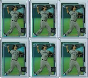 BRENDAN RODGERS - Lot of (10) 2015 Bowman Chrome Refractor RC #200 - All Ref