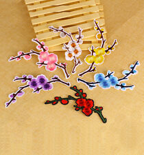 Plum Blossom Applique Sew /Iron on Patches Flower Embroidery Badge Dress Sewing